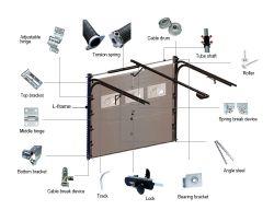 2017 Commerce de gros résidentiel Nouveau design en aluminium électrique de porte de garage (Hz-SE0398)