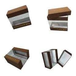 Boîte d'emballage de chocolat petit papier avec fenêtre transparente en PVC