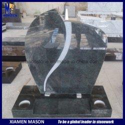 Headstone dritto di Speical del granito verde tropicale indiano per il cimitero