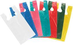 Saco de plástico colorido (T-shirt Bag / Vest Bag) / Sacola de Compras