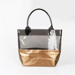 Promotion dame en cuir sac à main en PVC transparent Sac fourre-tout de PU