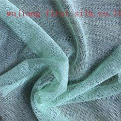60GSM tecido de malha de seda, Seda Tulle Fabric, vestido de noite de malha. Tecido vestido de noiva