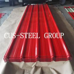 Material de construção do telhado de aço Trapezóide Metal/RIB folha de metal de metal corrugado