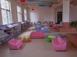 Il cuoio scherza la mobilia della scuola materna, la mobilia ed il sofà domestico moderno del salone, il sofà della mobilia del campo da giuoco dei bambini, dell'addestramento preliminare e del centro di cura di giorno di asilo