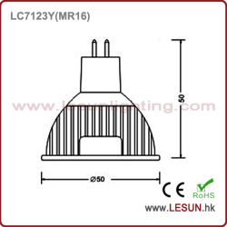 Ce ASA 3*1W SMD/COB GU10 MR16 E27 réglable LED spotlight ampoule lampe