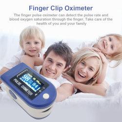 La saturation en oxygène du sang de gros écran OLED Fingertip Clip Appareil de test d'oxygène du sang