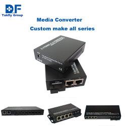 10/100/1000m/10g sm/mm Dual Fibre SFP Industrial Media Converter