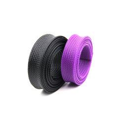 Retardante de llama alta funda trenzada de PET para la gestión de cable de protección de cables