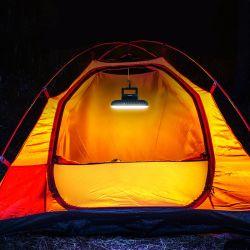 휴대용 SMD LED USB 충전식 방수 조절식 캠핑 라이트 회막용 후크 앤 팬