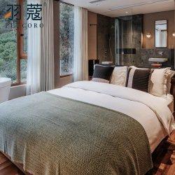 Novo Estilo branco 100 Algodão Sateen Lençol para Four Seasons Hotel