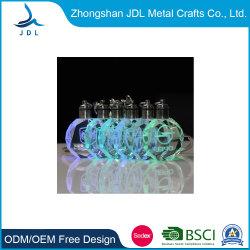 맞춤형 3D 릴리프 로고 LED 전구 유리 크리스탈 조명 기념품 선물 메탈 LED 키체인 백 마법용 퐁폰 파인더 솔라 LCD 키 링