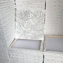 للاستديو الطلاء بالجملة عالية الجودة الفنان فارغ مساحة قطع من القطن الأبيض مصنوعة يدويًا شعار فني مخصص