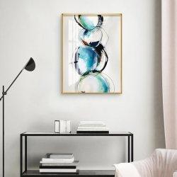 Clásica Imagen de la pared de cristal azul de arte abstracto de la pintura de porcelana de la fotografía de moda impresiones artísticas de lona carteles Decorsize Sala de 20X30 pulgadas