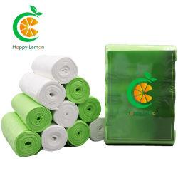 100% biodegradables Imprimir Planicie Roll Pack galón bolsas de basura