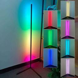 التحكم عن بعد في التطبيقات من Nordic الحديثة الحد الأدنى لتغيير الألوان متعددة الألوان مفتاح التحكم في موسيقى مصباح الوقوف LED في وضع الوقوف بالأرضية في وضع الوقوف RGB Light Tripod مصابيح الوقوف في الزاوية