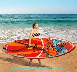 Tipo moderno confortável da placa de desportos aquáticos Placa Pá inflável para esqui aquático Ioga Surf Placa de Pesca