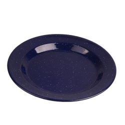 مظلمة - مينا زرقاء [سترّي] يخيّم خارجيّ معدن فولاذ طبق/لوحة [كوكور] مجموعة