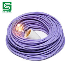 Cable textil cubierta de algodón tejido Cable Eléctrico Cable de alimentación de ronda