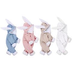 2020 Primavera de Outono Inverno orelhas de coelho Subir Suit Bebê Casquilhos inteiriços, Bonitinha Velvet romper