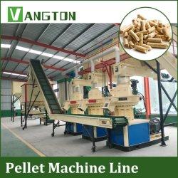 La biomasa peletizadora de madera Horizontal Vertical Automática Ring morir molde circular de hayas de combustible de madera de pino abeto Pelletizer 1t 2t 3ton 4ton por hora 5T/H 10t/h a 20t/h