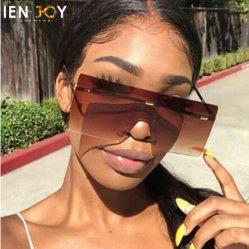 Marque de luxe Vintage Retro surdimensionnées sans rebord Oculos Lunettes de soleil pour les femmes de Sol Feminino