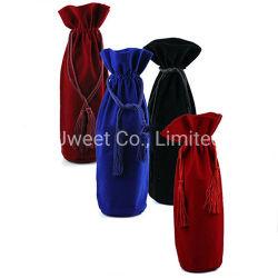 La mode de velours bouteille de tequila Reposado Sac avec lacet de serrage avec différentes couleurs
