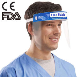 반대로 안개 비말 바이러스를 위한 방어적인 가면 방패 챙