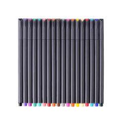 Oficina Escolar 0.38mm de tamaño de la punta 18 colores brillantes de Fine Point Fineliner Set bolígrafos