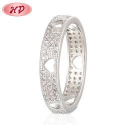 La moda más reciente de plata chapada en oro blanco de la boda de acero inoxidable de los anillos de dedo de la Mujer Hombre joyería de diseño de acoplamiento