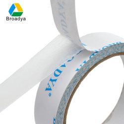 Impressão personalizada de tecido de logotipo/Non-Woven transportador revestido com adesivo acrílico duas fitas de rosto (DTH06)