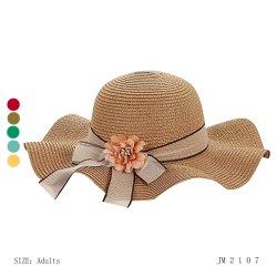 نساء فصل صيف تبن عرضيّ دلو قبعة شاطئ [سون] قبعة رخيصة سعر [هيغقوليتي] يلوّث [فشيون كّسّوري] عرضا دوي كبيرة حافة وقت فراغ سيّدة [كبس] [فلوور] [دكرأيشن]