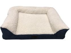 Kreativer gemütlicher Faux-Leinenspeicher-Schaumgummi-Haustier-Sofa-Bett