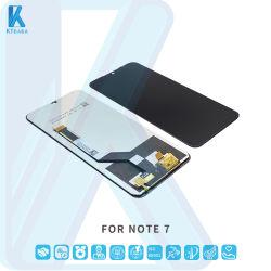 السعر بالجملة للمصنع الهاتف المحمول قطع الغيار شاشة عرض LCD لمس شاشة خاصة بـ Xiaomi Note7 PRO