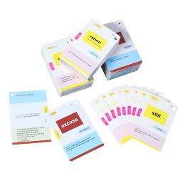 Reprodução de ensino inglês brinquedos educativos cartões flash
