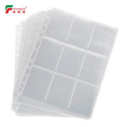 ورق PP ذو 11 فتحة بطاقة تجارية ذات 9 أوراق جيب