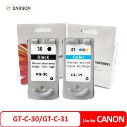 Kompatible Tinten-Kassette Canon-Gt-C-30 Gt-C-31 Pg30 Cl31 für Canon Pixma IP1800 IP2600 Wartungstafel 470 Wartungstafel-140 Wartungstafel-210 Tintenstrahl-Drucker MX-300 MX-310