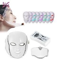 最新のポータブル7つのカラーLED美顔術及び首マスク4のスキンケアのアクネの取り外しのしわの取り外し