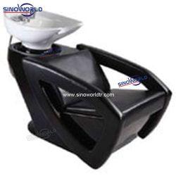 صالون حلاقة عالية الجودة أثاث وحدة غسيل خلفية صالون خزفي كرسي شامبو تجميل الحوض للبيع
