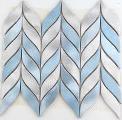 Het blauwe Mozaïek van het Metaal van het Aluminium van het Ontwerp van het Blad van de Kleur Mooie voor de Decoratie van de Muur