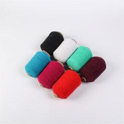 Filato di gomma del poliestere di colori dello Spandex di nylon in bianco e nero del lattice per i guanti ed i calzini