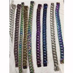 Collier d'arrêt métallique Cuban Link collier chaînes pour chiens en acier inoxydable colliers
