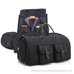 2 em 1 Hanging Garment Duffel Bag prensa para viagens de negócios saco com equipamento Bolsa personalizada OEM Luxury Travel Organizer Saco (BC4407-12)