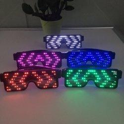 EL AMOR DE LUZ LED Flash sonido agitar gafas Regalo Booster parte gafas alimentación