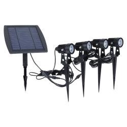 500 Lumen por luz solar Water-Resistant IP65 Powered Lawn luz LED solares Spotlight Lâmpada paisagem de jardim com a inserção de pólo para a via para exterior