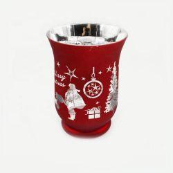 Economico design personalizzato Natale economici Crystal Cut portacandele in vetro