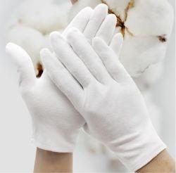 Comercio al por mayor guantes de seguridad Guantes de trabajo guantes blancos de algodón en el inventario de ceremonia y la industria