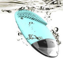 Aquecimento eléctrico de Limpeza Facial Sonic Escova de Limpeza Facial de Silicone