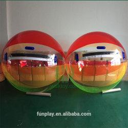 O PVC transparente bolas de água inflável com fecho de correr