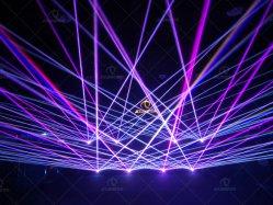 Partie Club DJ équipement de scène de divertissement 6W de l'animation de la lumière laser RVB