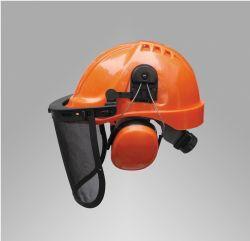 Sicherheitshelm mit Gesichtsschutzvisier, Sicherheits-Ohrmuff Gesichtsmaske Helm-Set (JM432C)
